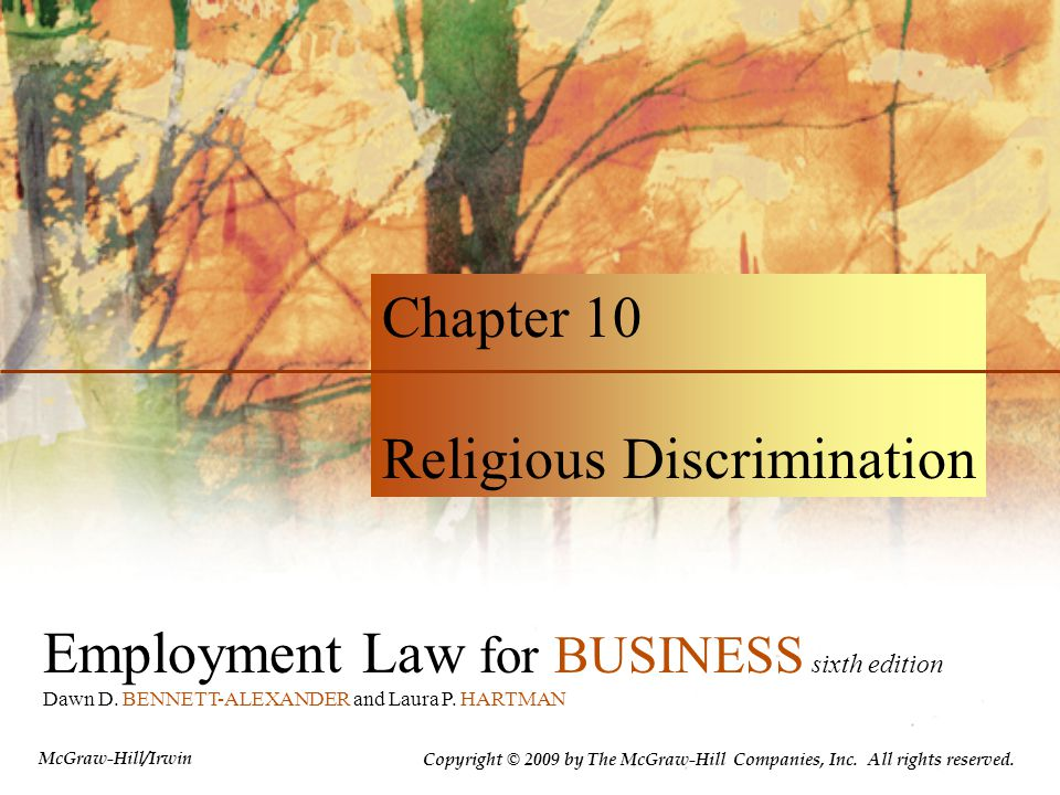 Employment Law for BUSINESS sixth edition Dawn D. BENNETT-ALEXANDER and Laura P.