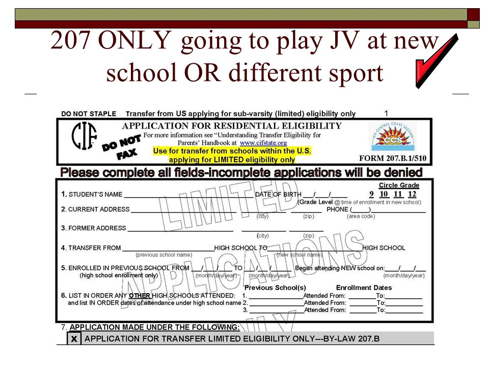 207 ONLY going to play JV at new school OR different sport