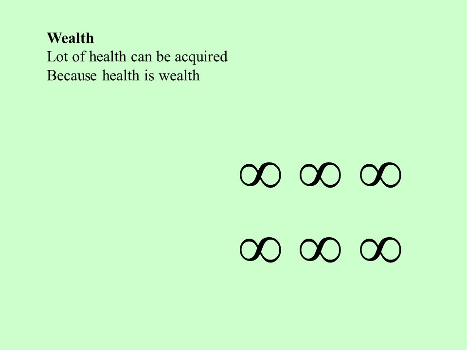 Wealth Lot of health can be acquired Because health is wealth         