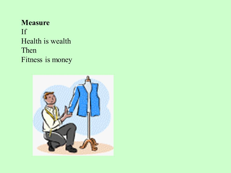 Measure If Health is wealth Then Fitness is money