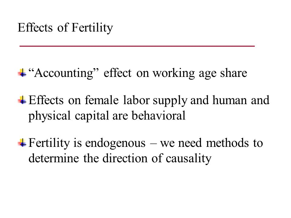 Future work Instruments Contraceptive laws Twins Sex selection Childhood outcomes Health Education Heterogeneous responses By country By socio-economic status