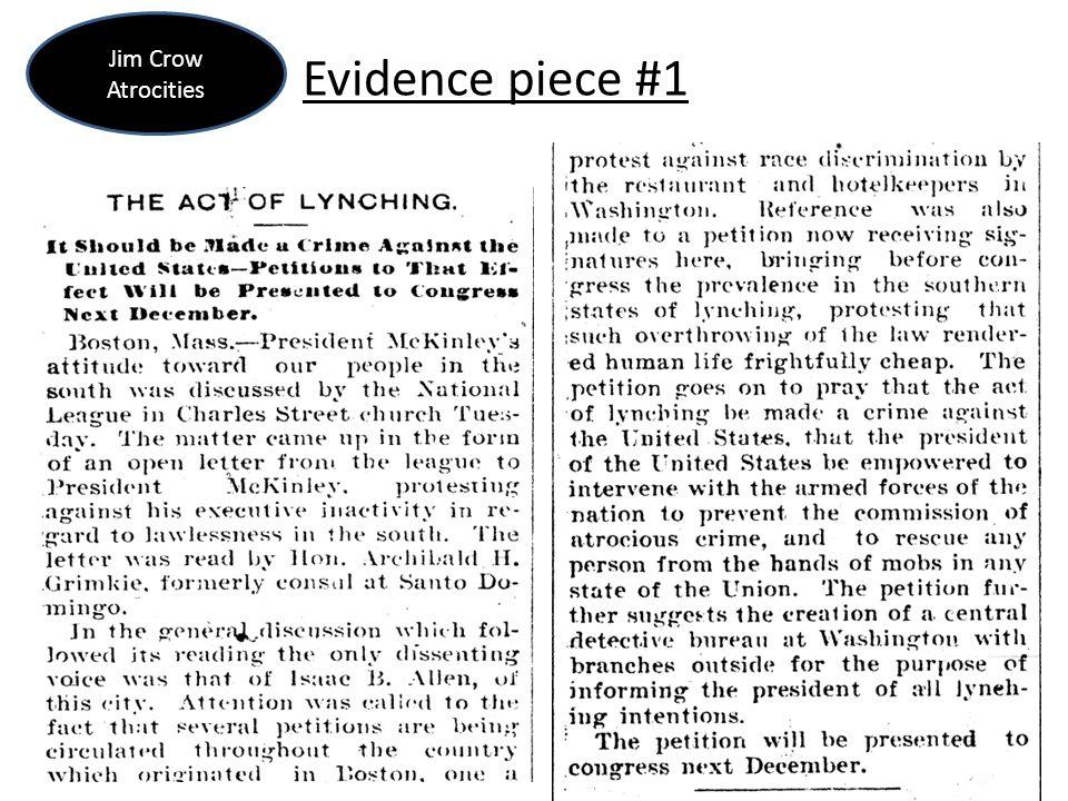 Evidence piece #1 Jim Crow Atrocities