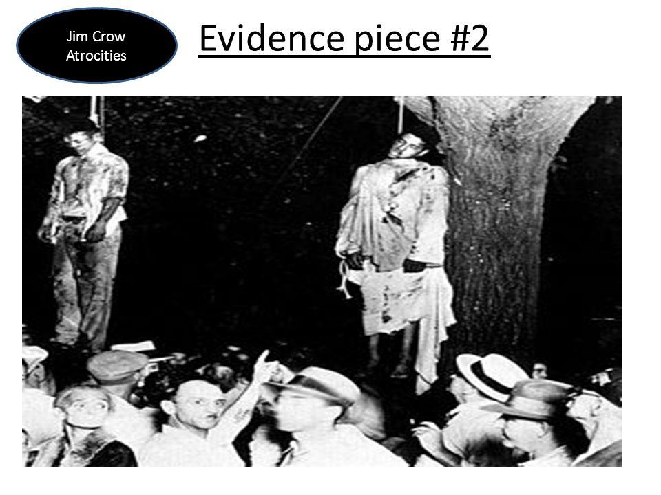Jim Crow Atrocities Evidence piece #2