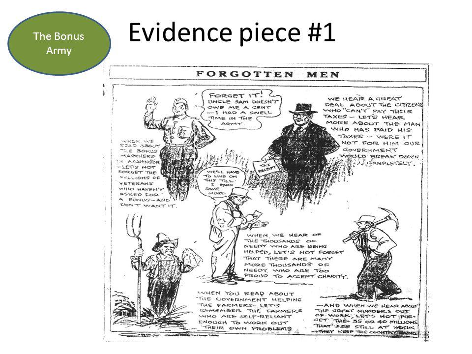 Evidence piece #1 The Bonus Army