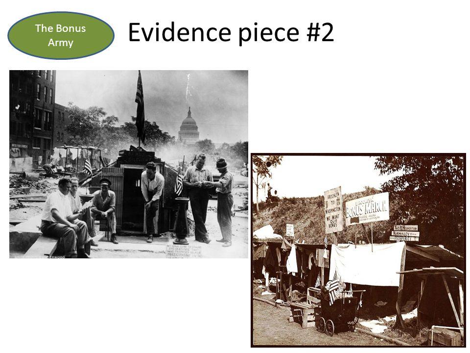 Evidence piece #2 The Bonus Army