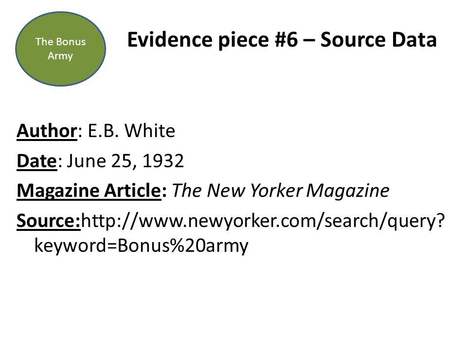 Evidence piece #6 – Source Data Author: E.B.