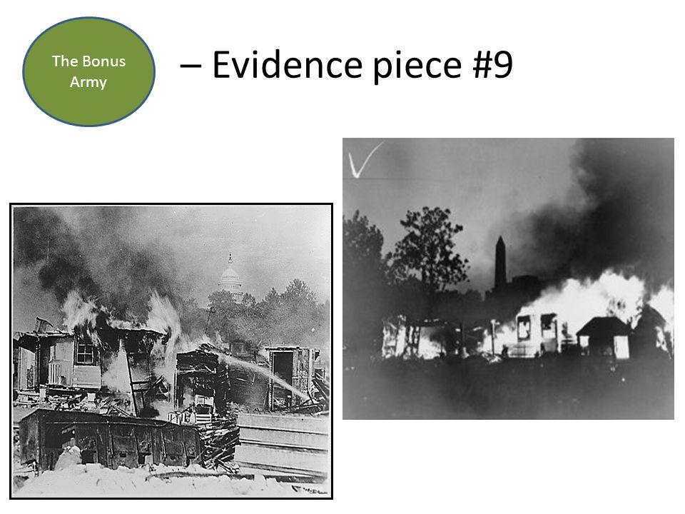 – Evidence piece #9 The Bonus Army
