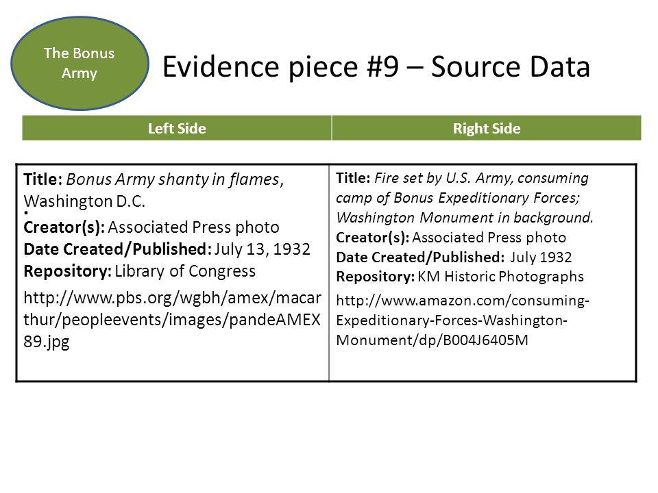 Evidence piece #9 – Source Data.
