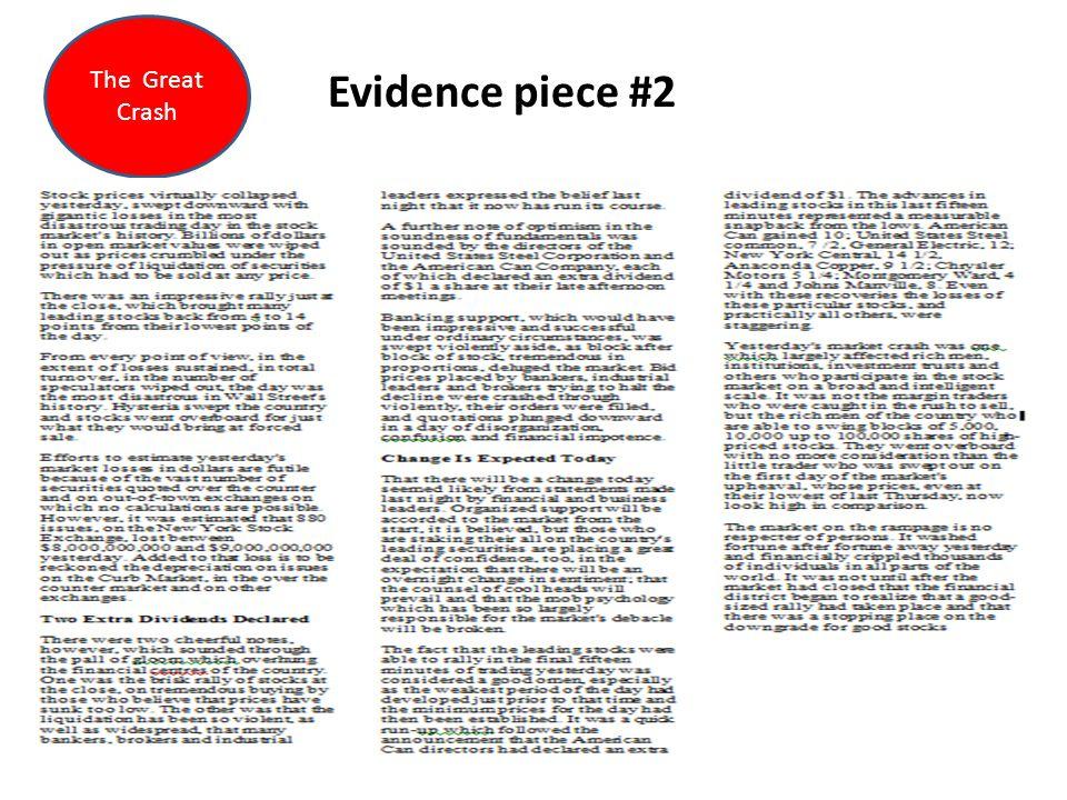 Evidence piece #2 The Great Crash