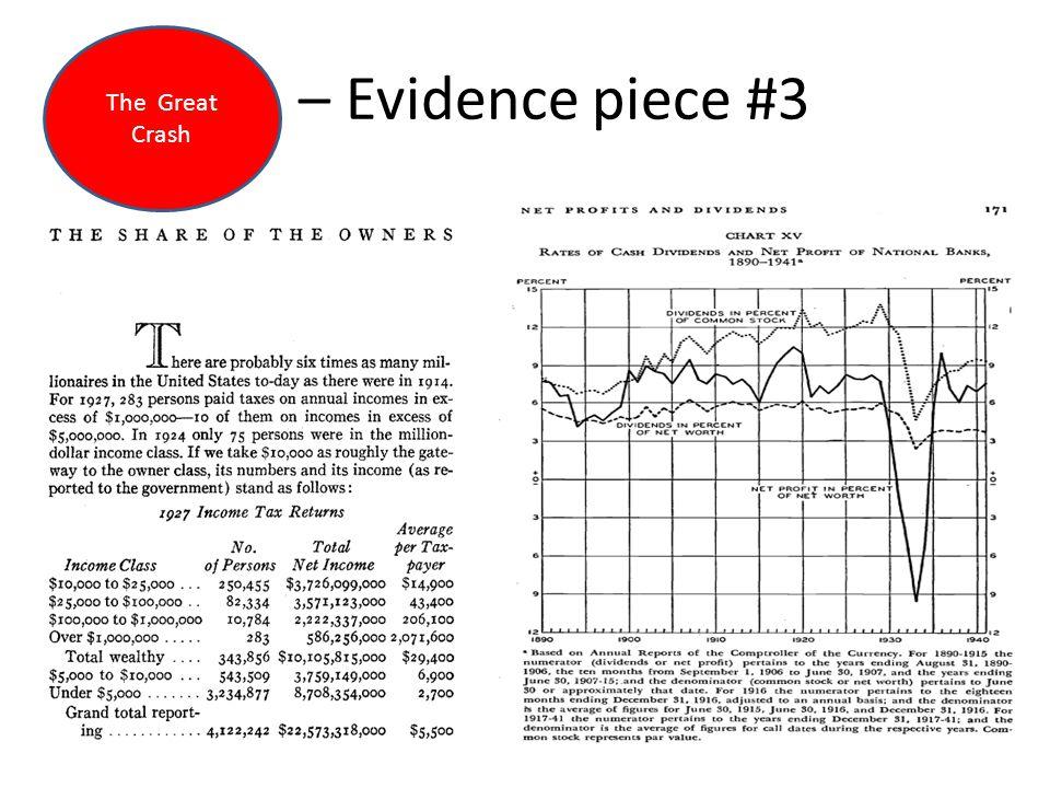 – Evidence piece #3 The Great Crash