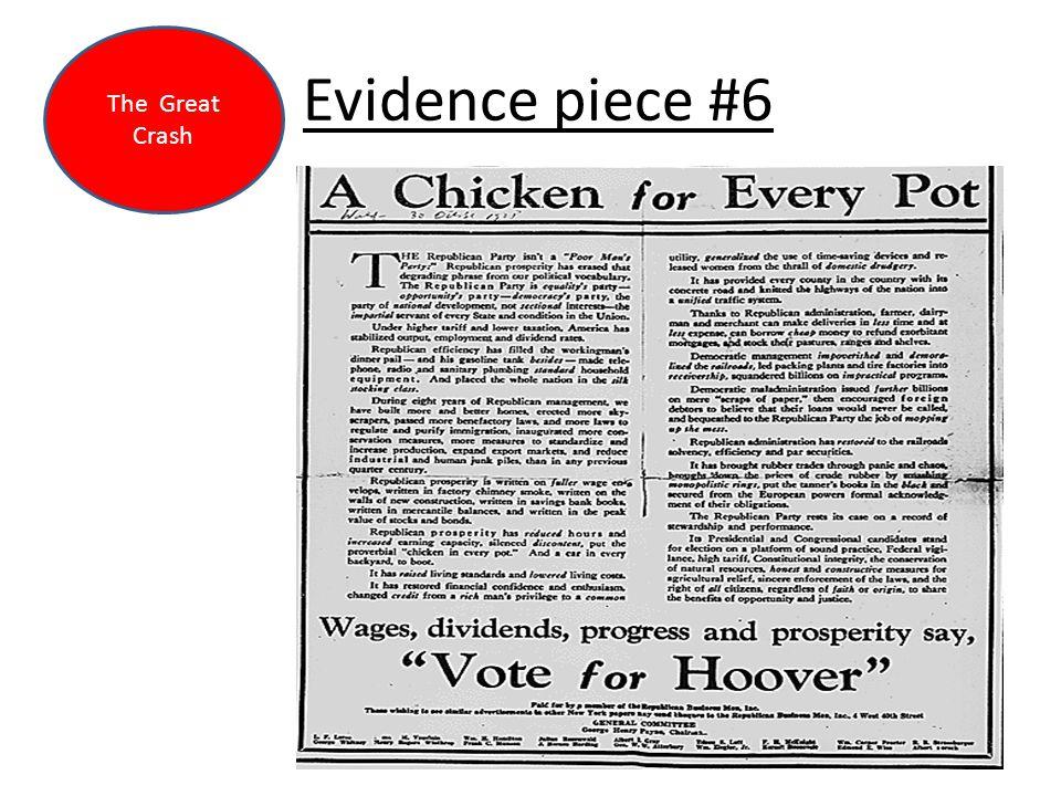 Evidence piece #6 The Great Crash