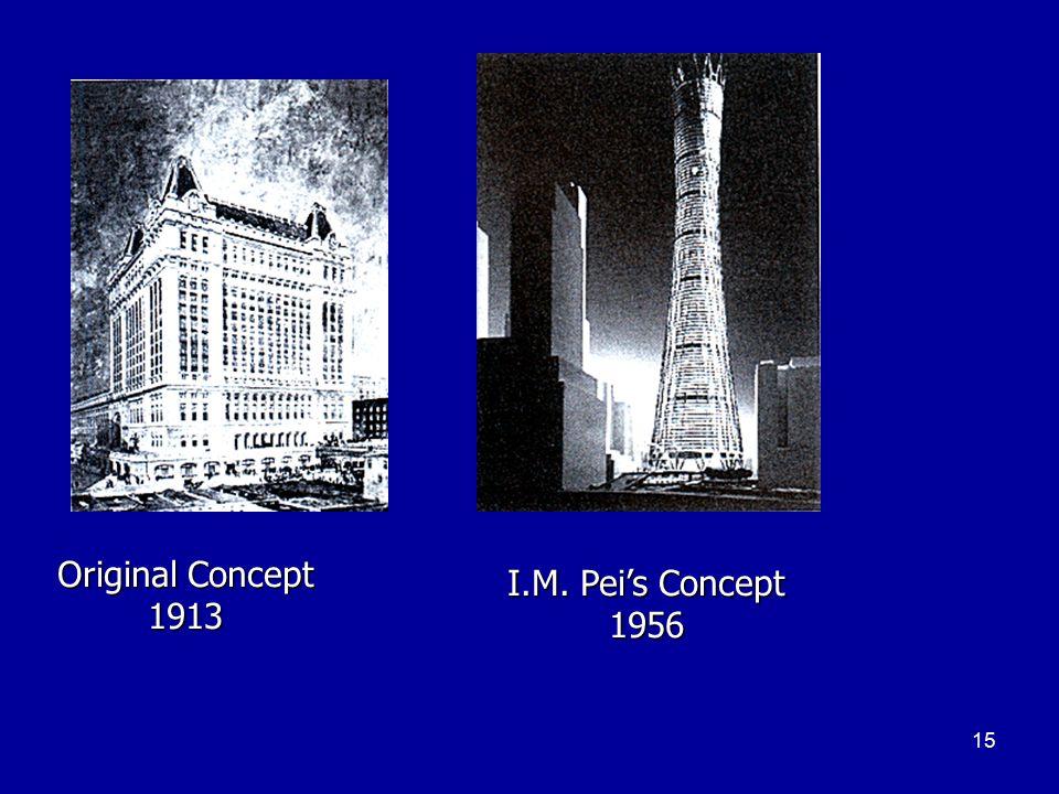 15 Original Concept 1913 I.M. Pei's Concept 1956