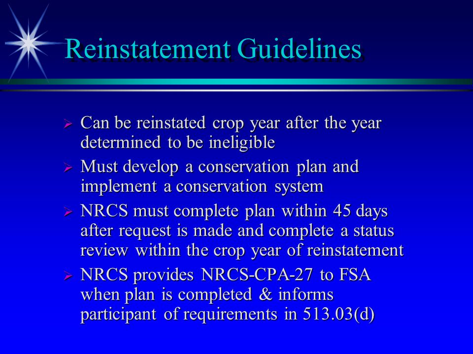 Small Area/Sodbuster- Interseeding Exemptions  Applies to small areas such as non-cropland areas, abandoned farmsteads, areas around wells, rock piles, etc.