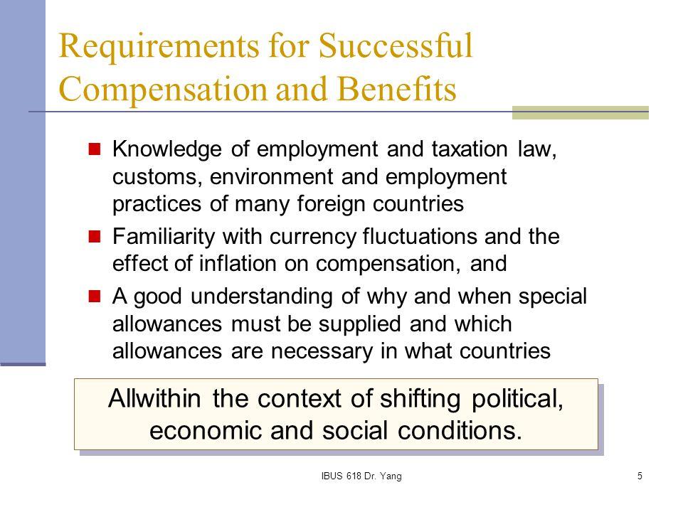 IBUS 618 Dr. Yang26 Expatriate Compensation Worksheet