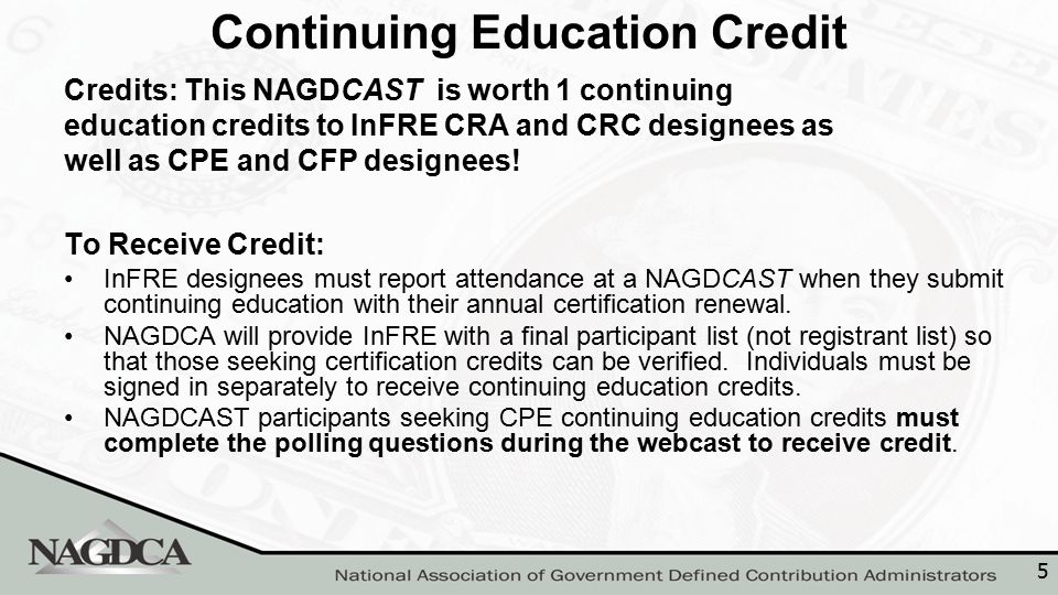 6 Please complete the online NAGDCAST evaluation – NAGDCA needs your continued input about the NAGDCAST series.