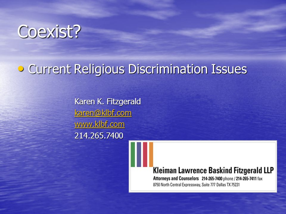 Increase in Claims No surprise that religious discrimination claims are increasing.