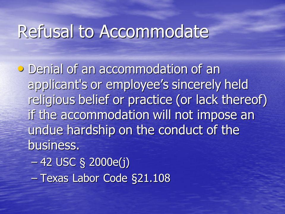National Origin Discrimination Many religious discrimination cases also contain national origin discrimination implications.