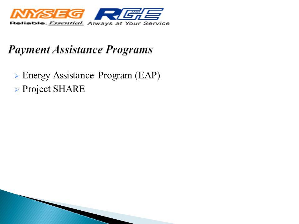  Energy Assistance Program (EAP)  Project SHARE