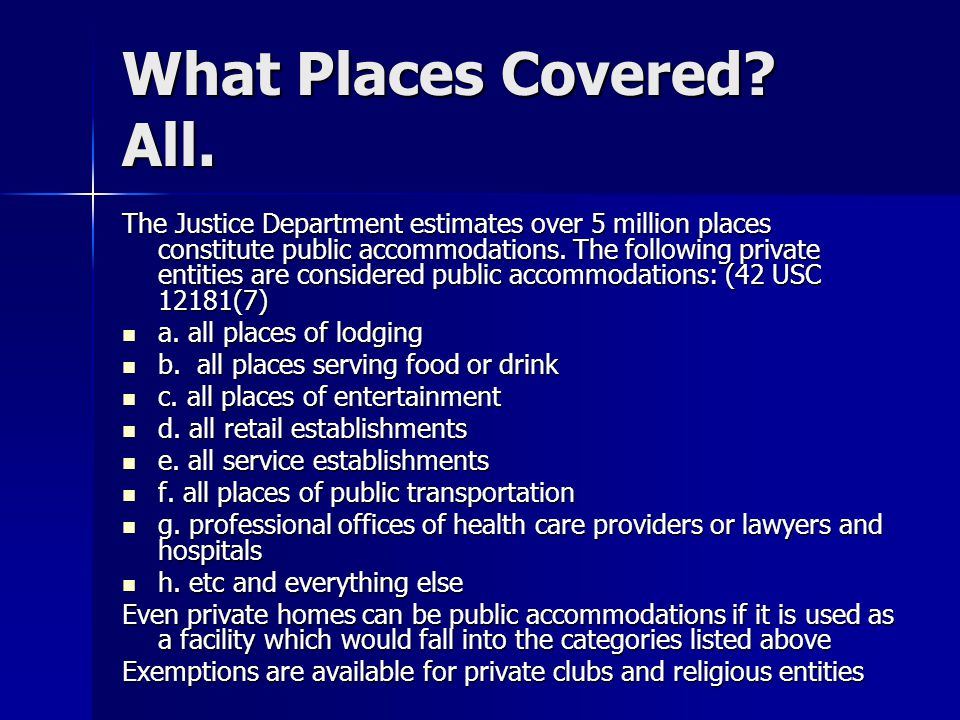 What Places Covered. All.