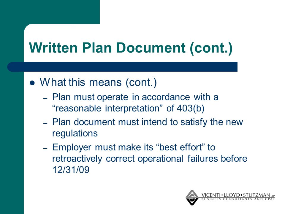 Steps to Take Now (cont.) Establish policies and processes to ensure proper authorization and record keeping of plan transactions: – Investments – Contributions received and related receivables – Benefit payments – Participant data and plan obligations – Administrative expenses