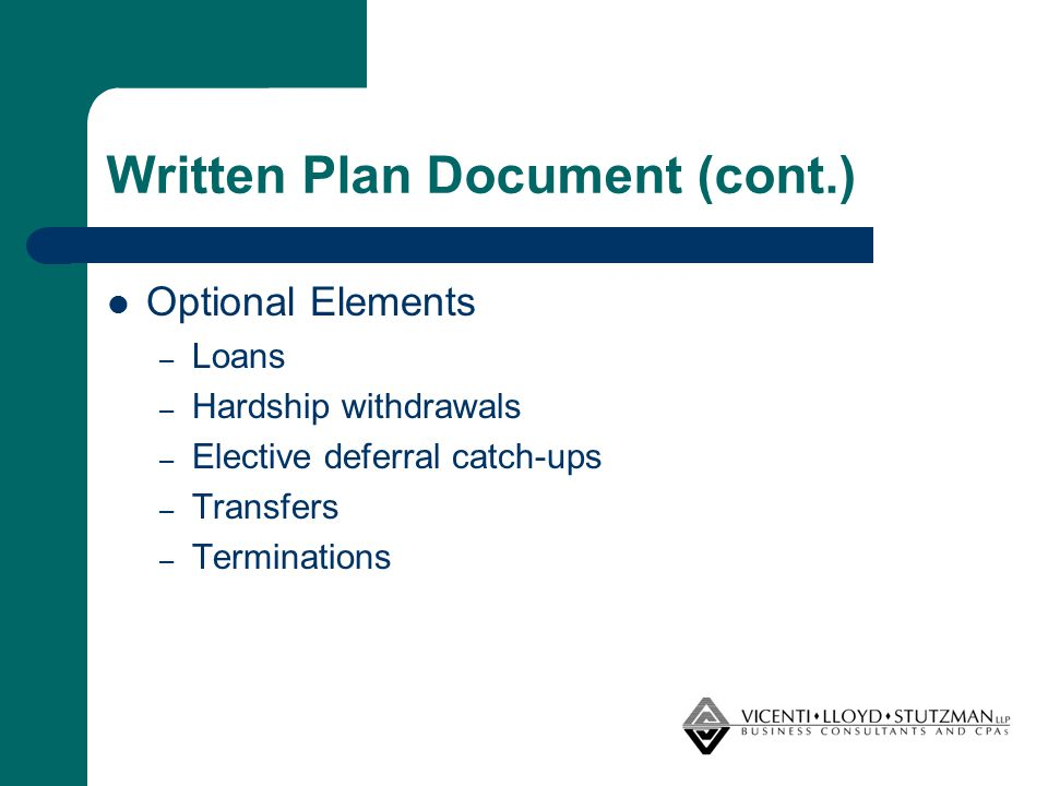 Transfer Rules/Exchanges (cont.) Information Sharing Agreement (ISA) – An agreement to share information sufficient to ensure compliance with respect to the following: Loans Hardship distributions Distribution events Recovery of basis in the contract