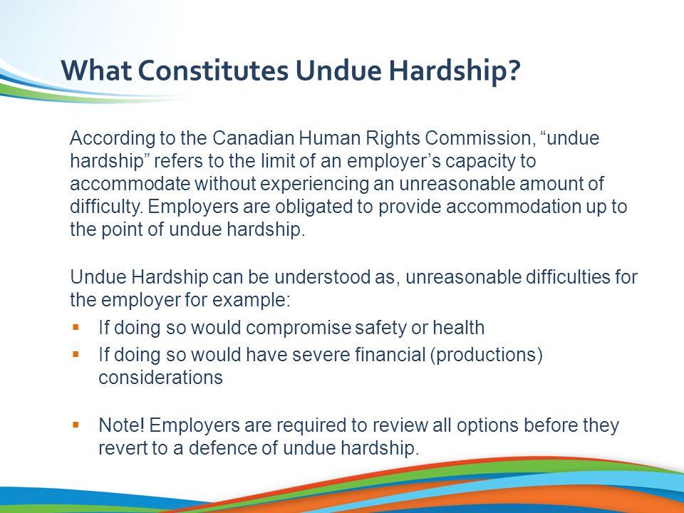 What Constitutes Undue Hardship.