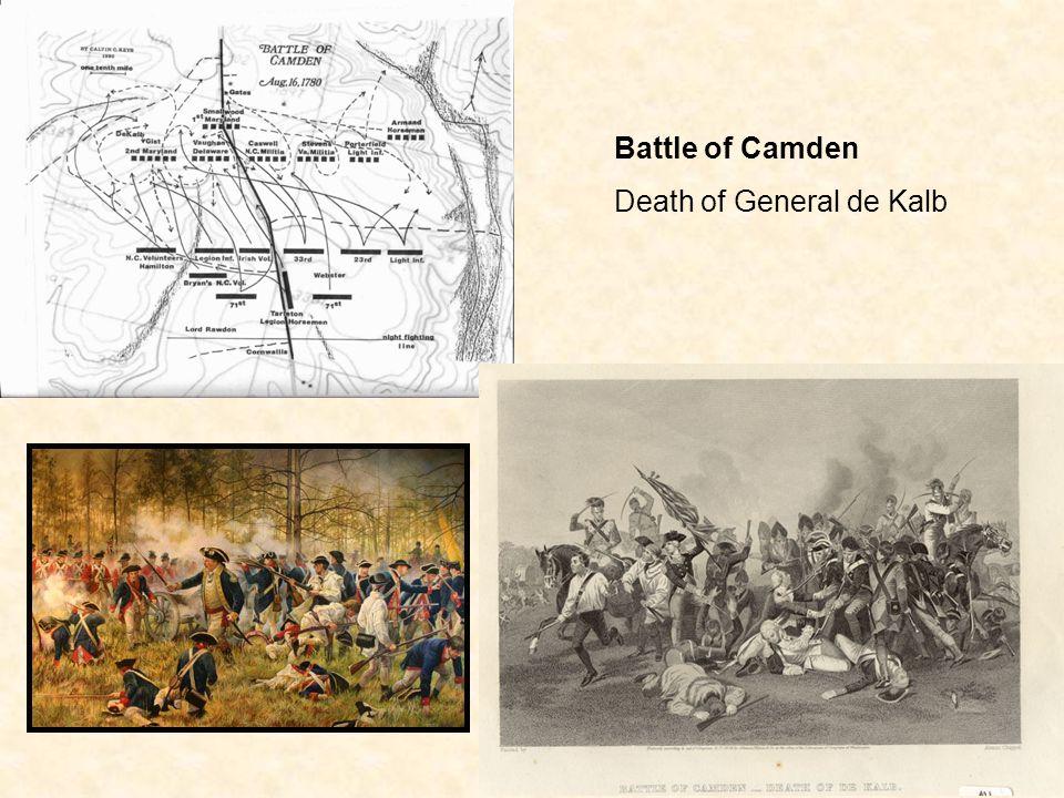 Battle of Camden Death of General de Kalb