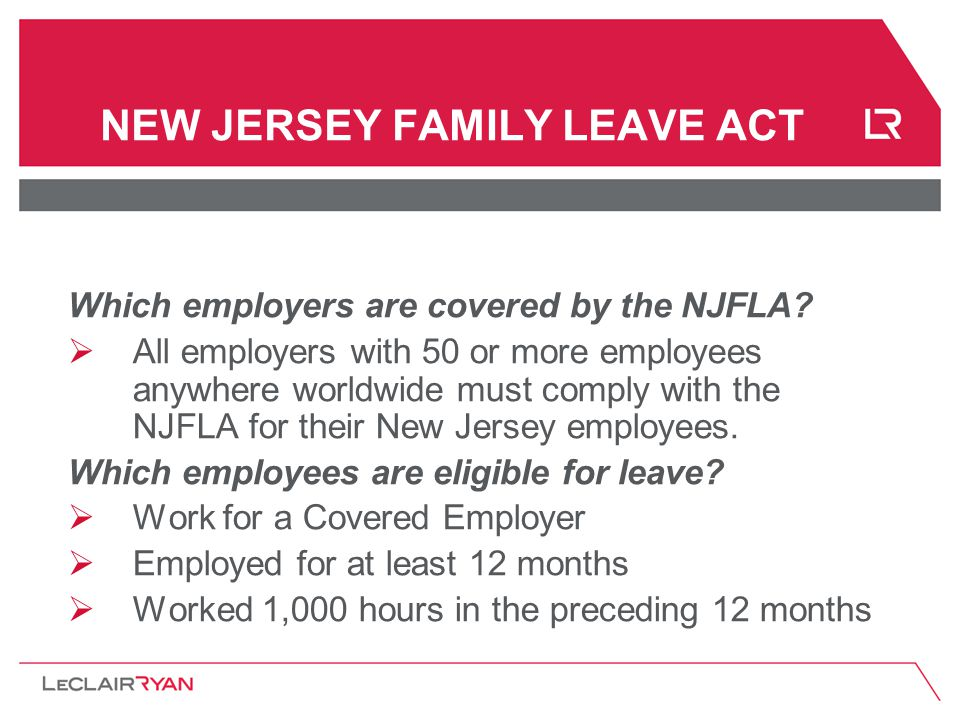 Which employers are covered by the NJFLA.