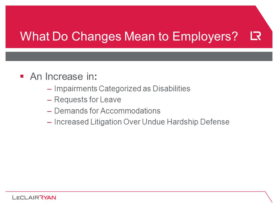 What Do Changes Mean to Employers.