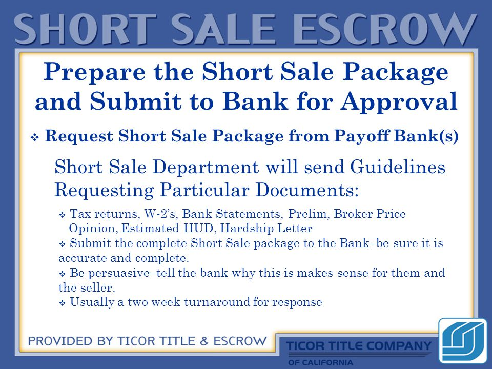 Items Commonly NOT Allowed by Short Sale Approvals  Home Warranty Paid by Seller  Broker Commission above 5%  Seller Carry-backs  Credits to Buyers for Repairs  Seller Paid Closing Costs–if too large