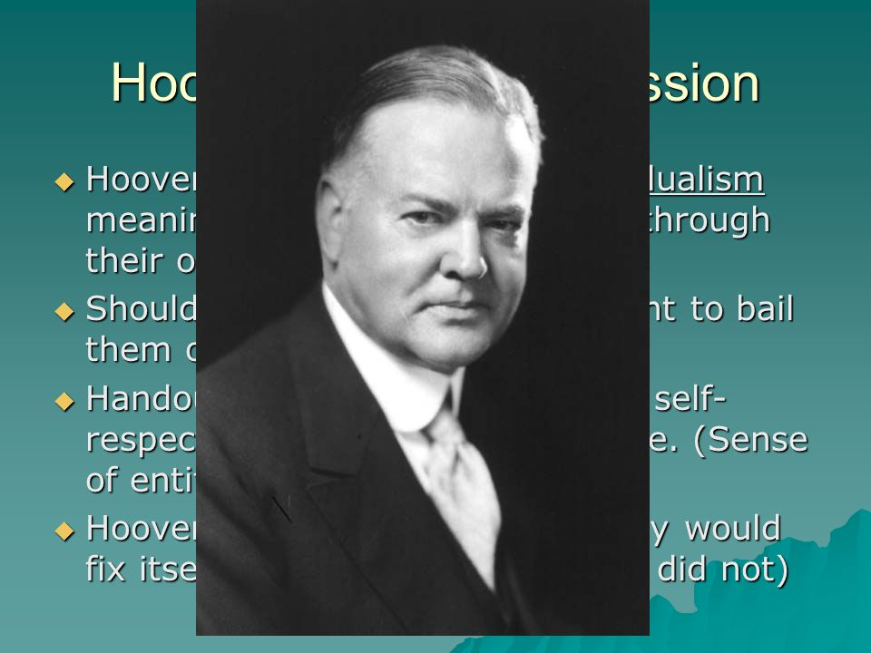 Main Idea  President Hoover's conservative response to the Great Depression drew criticism from many Americans.