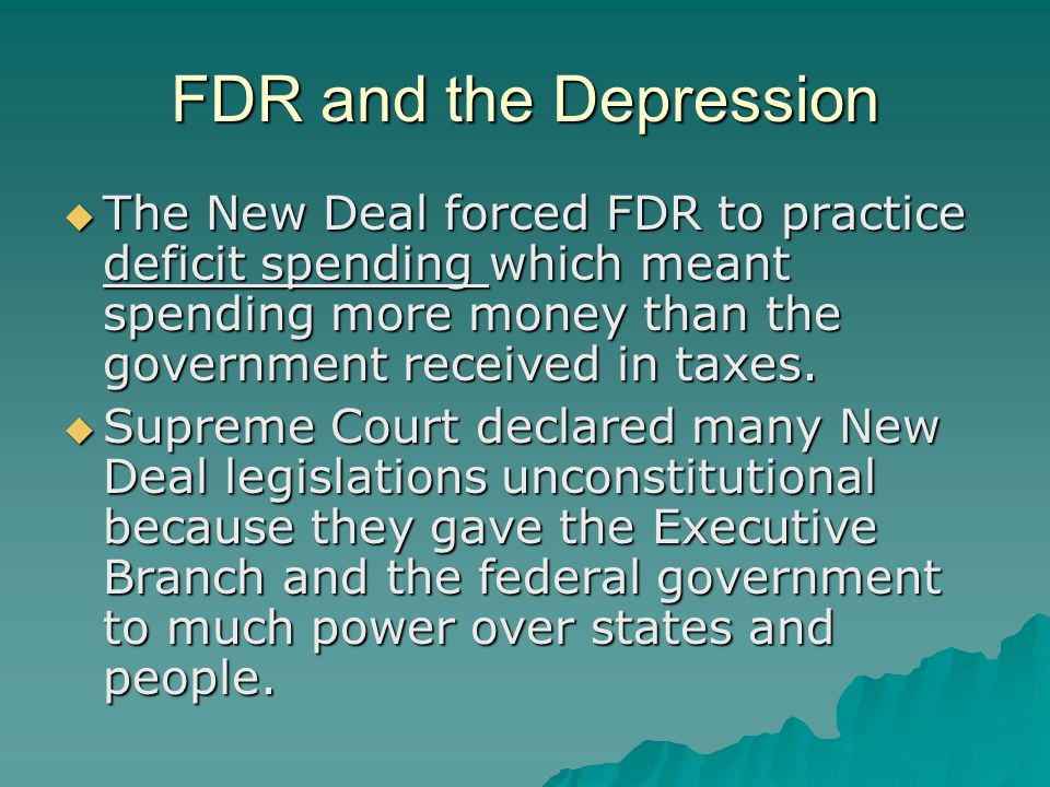 FDR and the New Deal  Franklin D.Roosevelt won the election of 1932.