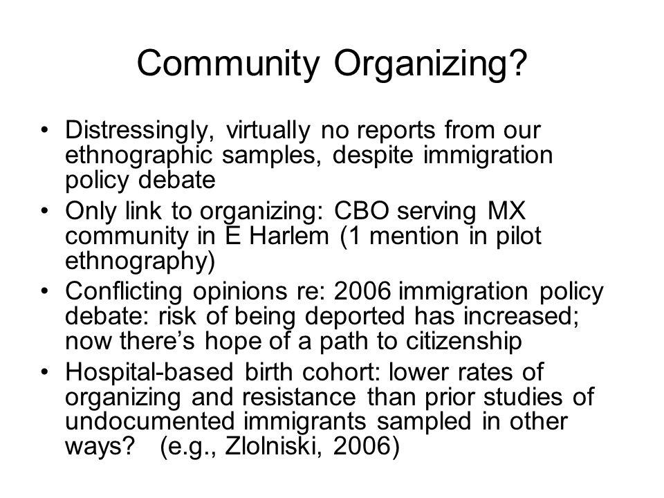 Community Organizing.