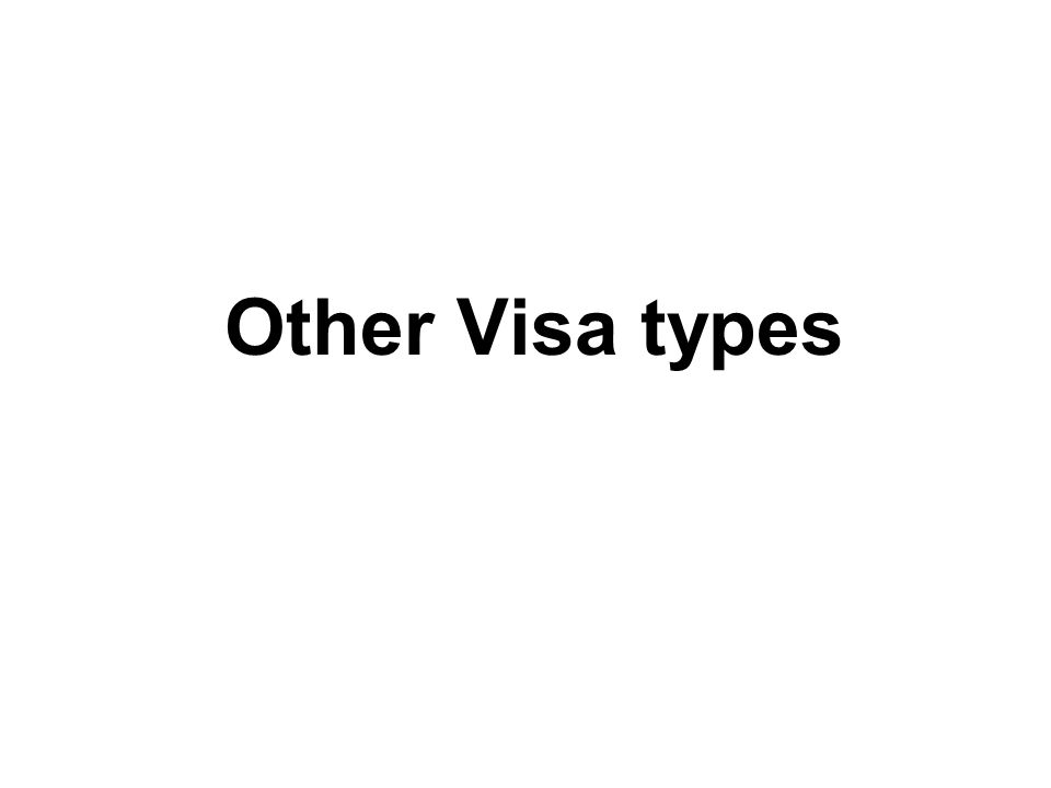 Other Visa types
