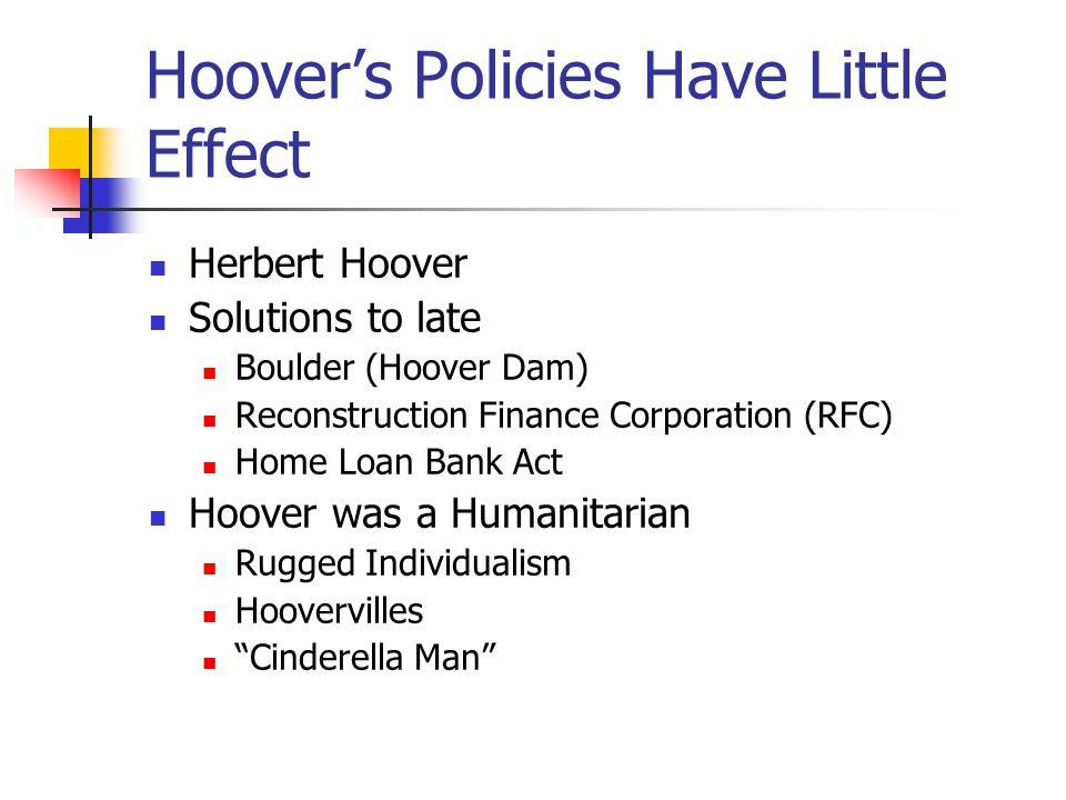 Democrats control Congress (1930) Hoover fails to adapt Too cautious Inflexible Sends troops against Bonus Army Moratorium Allied War Debts German Rep