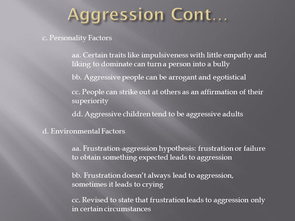 c. Personality Factors aa.