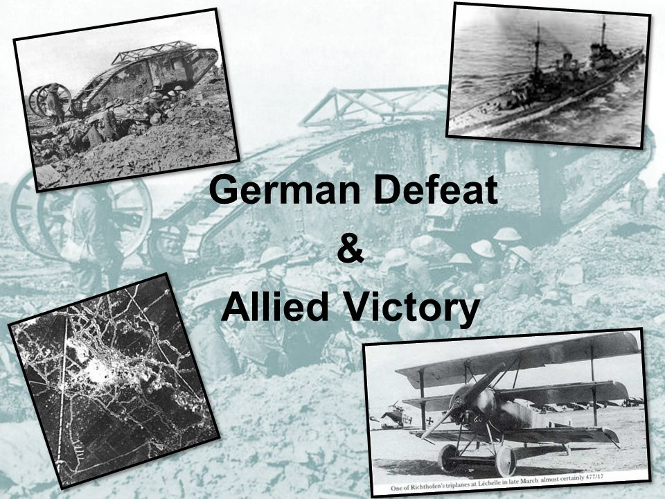 In January 1918… Morale in French Army low German U-boat campaign had failed to starve Britain into surrender Russia had withdrawn from the war, freeing up a large amount of German troops.