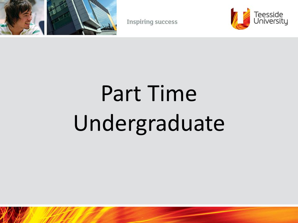 Part Time Undergraduate
