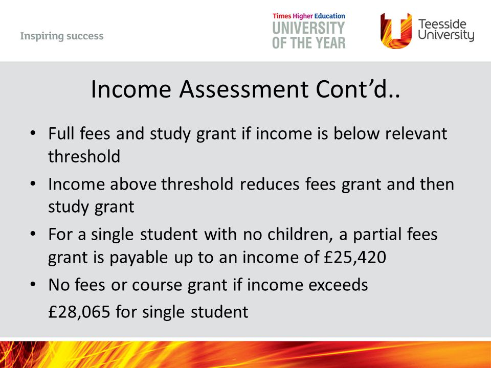 Income Assessment Cont'd..
