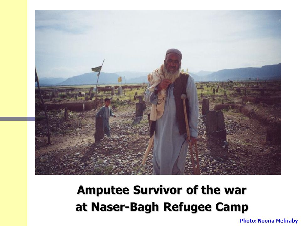 Amputee Survivor of the war at Naser-Bagh Refugee Camp Photo: Nooria Mehraby