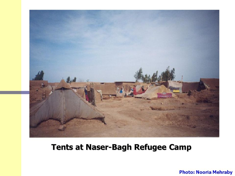 Tents at Naser-Bagh Refugee Camp Photo: Nooria Mehraby