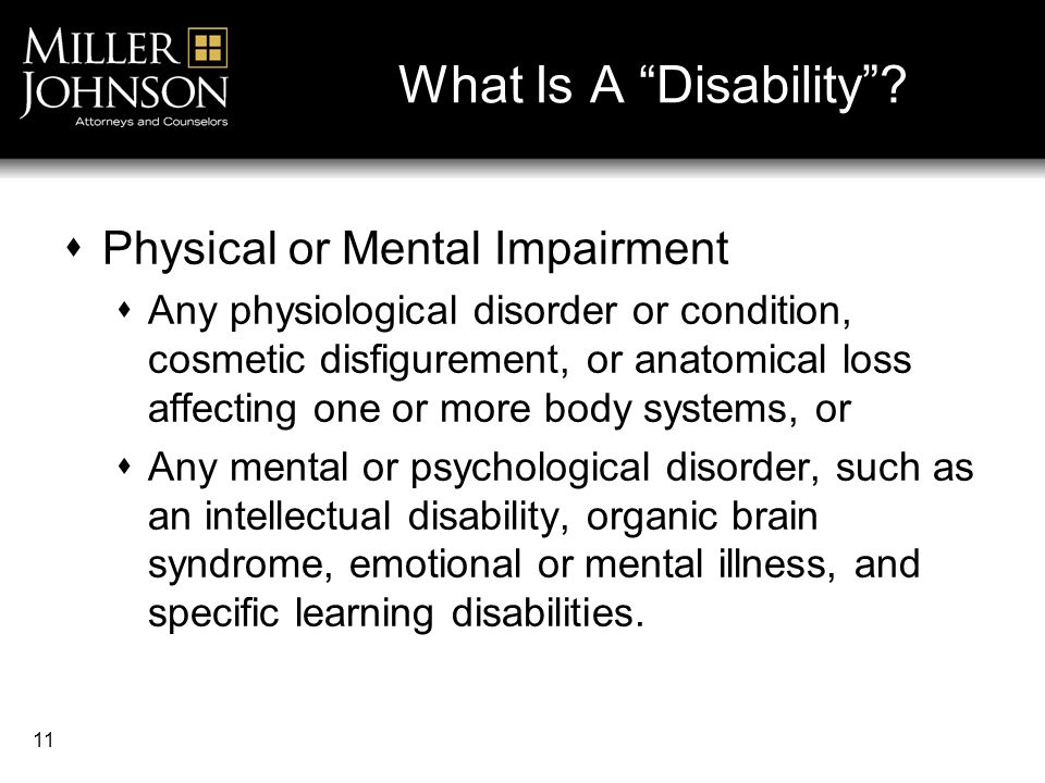 11 What Is A Disability .