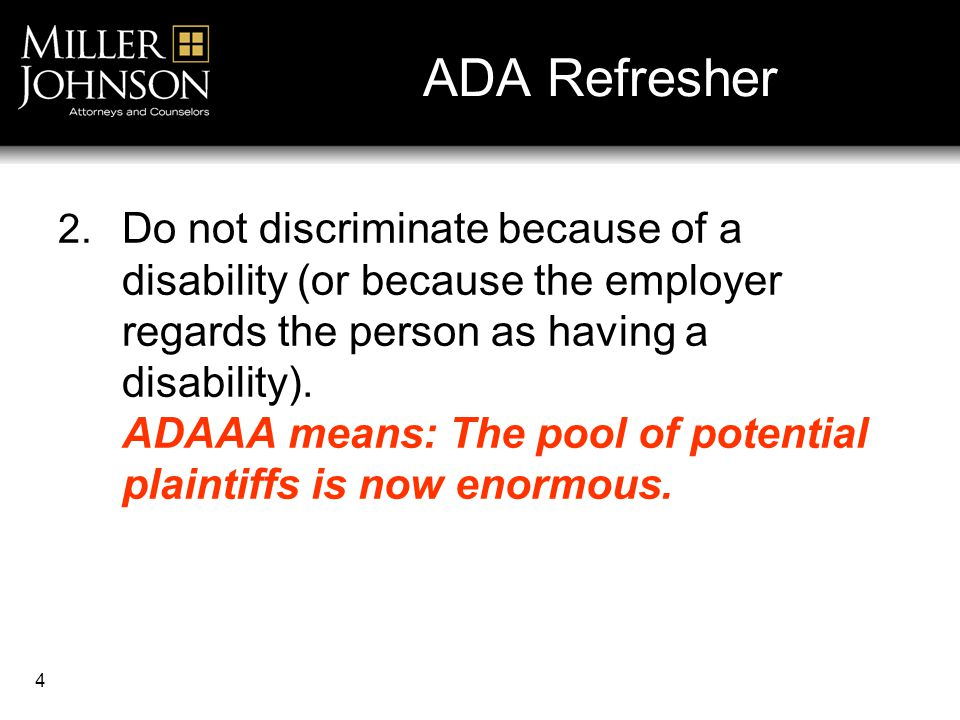 4 ADA Refresher 2.