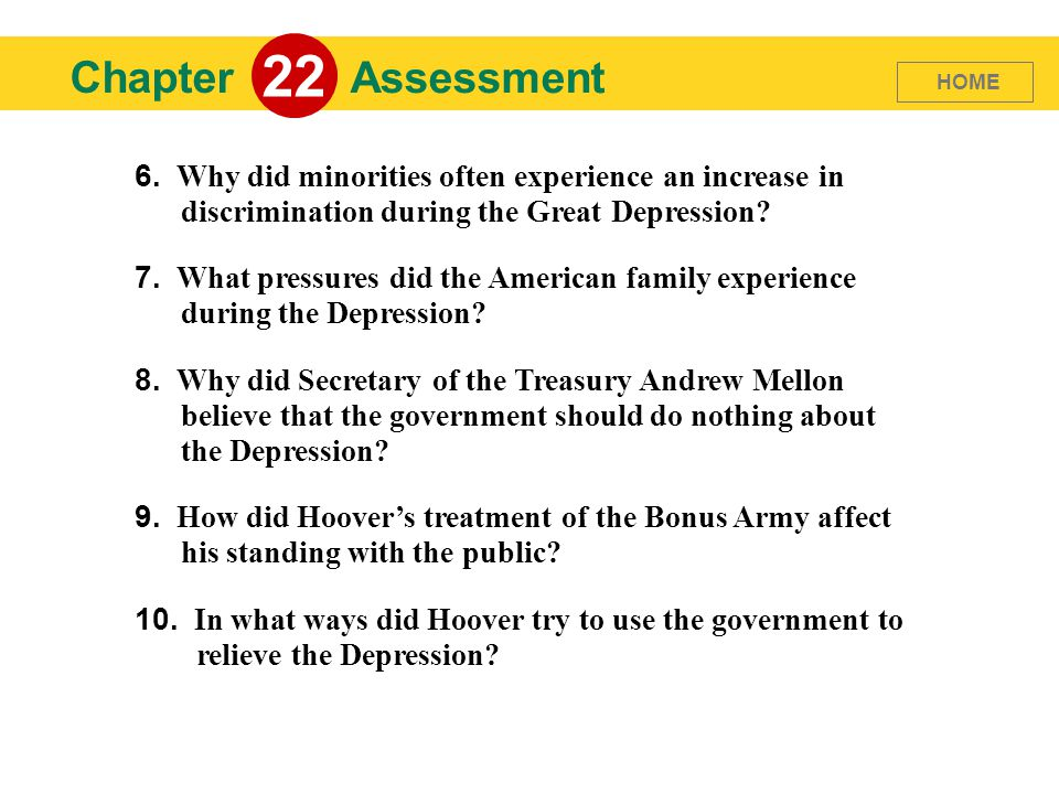 Chapter 22 Assessment 6.