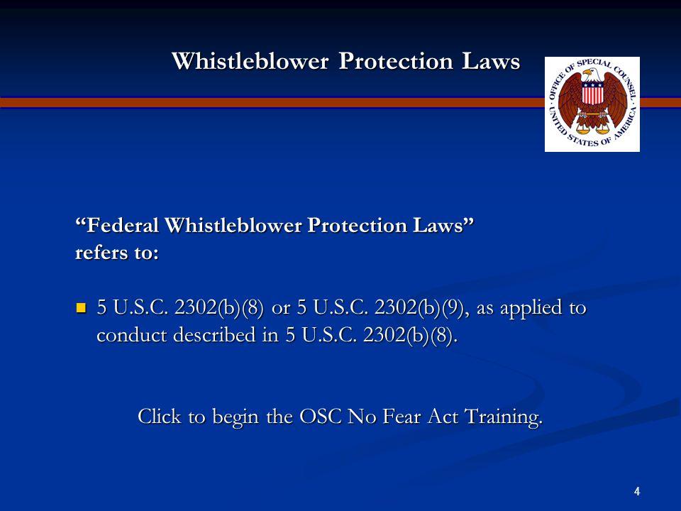 "3 Federal Antidiscrimination Laws ""Federal Antidiscrimination Laws"" refers to: 5 U.S.C. 2302(b)(1) 5 U.S.C. 2302(b)(1) 5 U.S.C. 2302(b)(9), as applied"