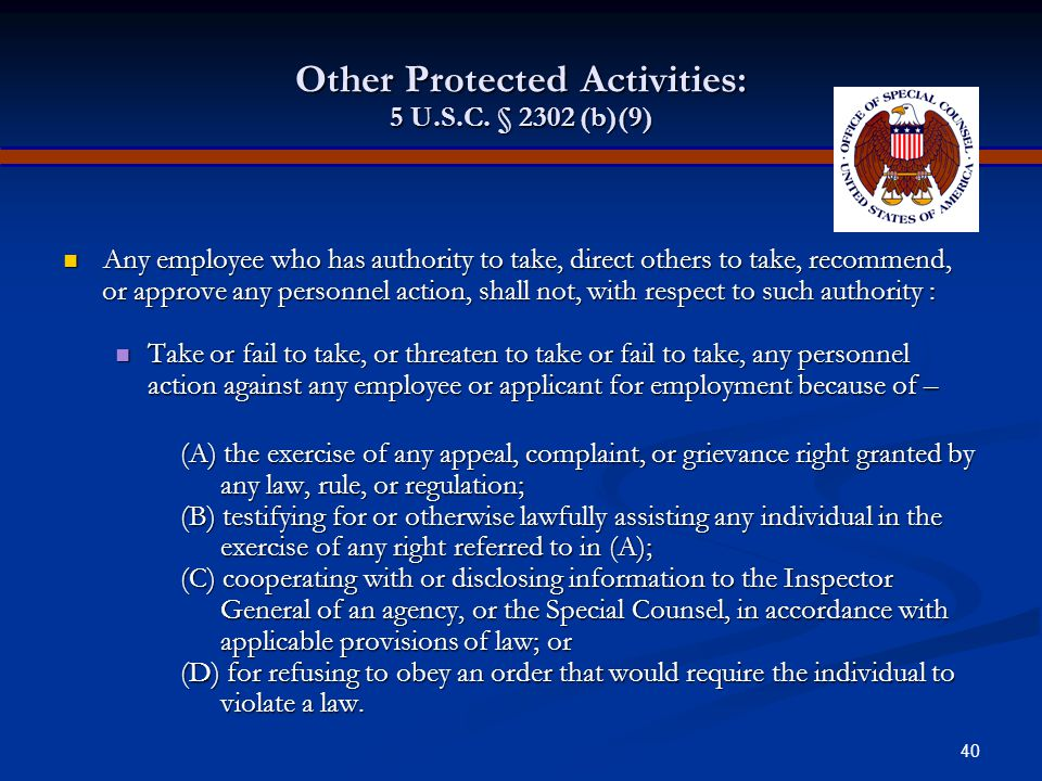 39 Contributing Factor Any factor which alone or in connection with others tends to affect in any way the outcome of the personnel action at issue. Ca