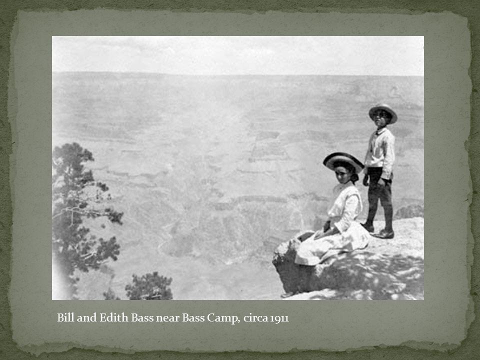 Bill and Edith Bass near Bass Camp, circa 1911