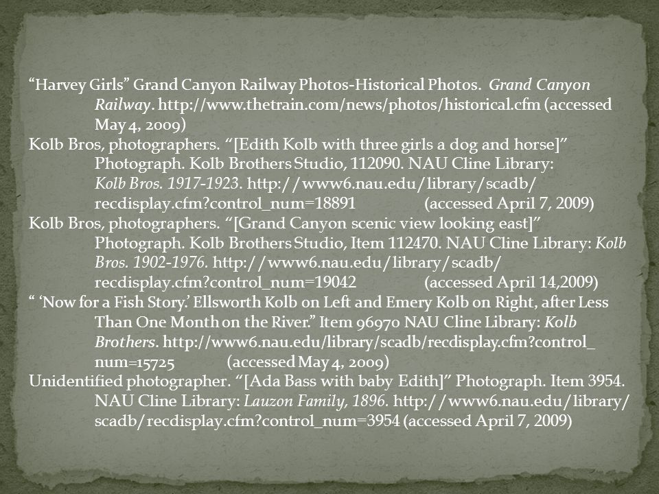 Harvey Girls Grand Canyon Railway Photos-Historical Photos.