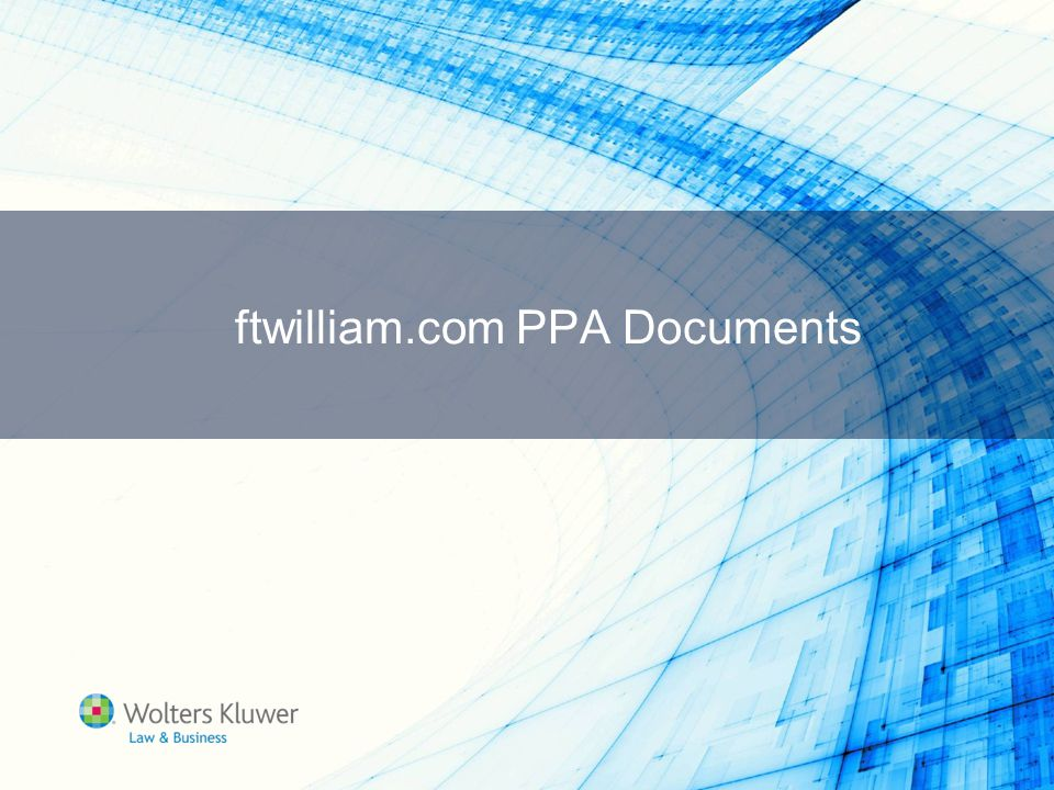 ftwilliam.com PPA Documents