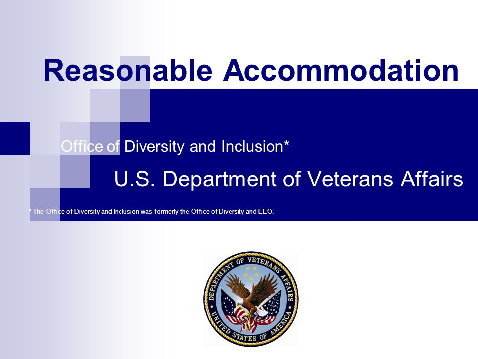 2 Federal Laws Regarding Reasonable Accommodation The Rehabilitation Act of 1973 and the Americans with Disabilities Act (ADA) of 1990 seek to: Ensure that people with disabilities enjoy employment opportunities equal to those of employees without disabilities.